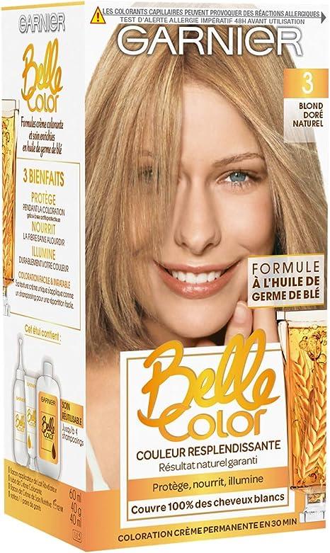 Garnier Belle Color- Tinte Coloración permanente, color rubio, 2 unidades