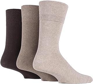 6x Pairs of Mens Plain Gentle Grip Non-Elastic Socks/UK 6-11 Eur 39-45