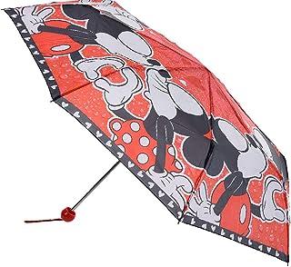 Disney - Paraguas plegable con funda protectora, diseño de