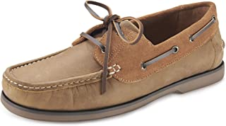 Samuel Windsor Men's Handmade Italian Leather Slip-On and Lace-up Deck Boat Shoes