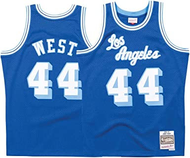 Mitchell & Ness Los Angeles Lakers Jerry West Throwback Road Swingman Jersey Blue (Medium)