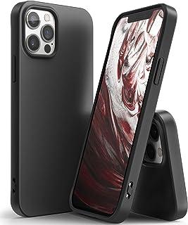 【Ringke】iPhone 12 Pro Max ケース 6.7 インチ 対応 ストラップホール付き スマホケース 柔らかい手触り スリム ライト 落下防止 カバー Qi 充電 アイフォン12プロマックスケース Air-S (Black ブラック)