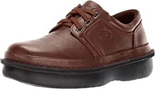 Propét Men's Villager Oxford Walking Shoe, Brown Grain, 10.5 2X-Wide