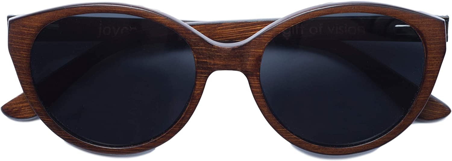 Joyce Ultralight Bamboo Sunglasses (Brown)