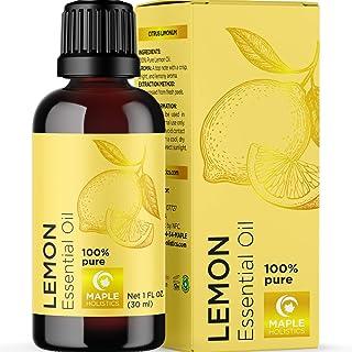 Invigorating Aromatherapy Lemon Essential Oil - Undiluted Lemon Oil Essential Oil for Hair Skin and Nails Plus Aromatherap...