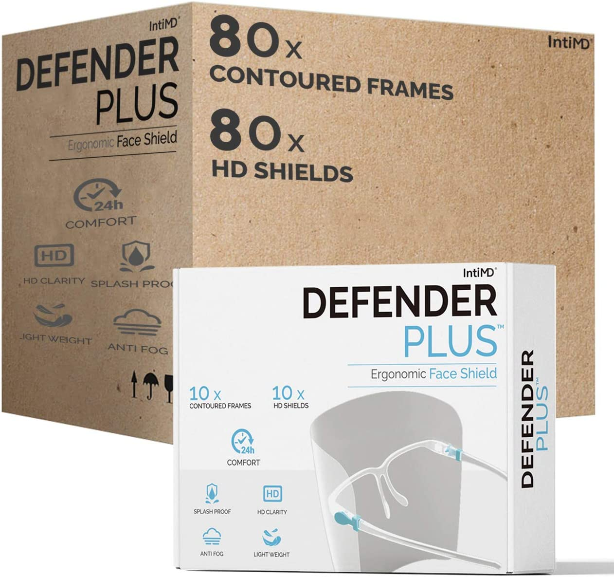 Safety Full Face Shield DEFENDER PLUS Shields High quality and Frames 80 Ranking TOP14