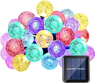 Solar Lights String 30 Led 20ft Crystal Ball Waterproof Fairy Light for Outdoor Patio Garden Party Wedding Christmas Decor