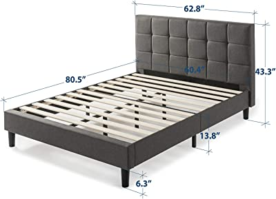 Amazon.com: Zinus Dachelle Upholstered Button Tufted Premium ...