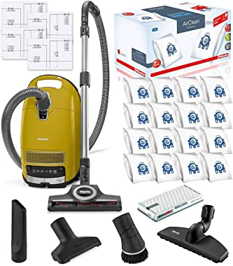 Miele Complete C3 Calima Canister HEPA Vacuum Cleaner + STB 305-3 Turbobrush Bundle - Includes Miele Performance Pack 16 Type