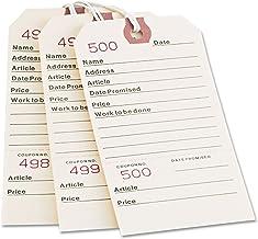 Repair Tag, Duplicate, No 1-500, 5-1/4 quot;x2-5/8 quot, 500/BX, MLA