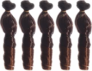 5pcs/lot 5.90''x39.37''Heat Resistant Big Curly Synthetic Hair Weft Deep Wavy Hair Extensions for DIY BJD/SD/Bly The/American Doll Wigs
