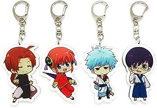 EBTY-Dreams Inc. - Set of 4 Gintama Anime Acrylic Keychain Sakata Gintoki, Kagura, Shimura Shinpachi, Kamui