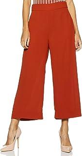 Amazon Brand - Symbol Women's Crop Length Flared Leg Casual Trousers