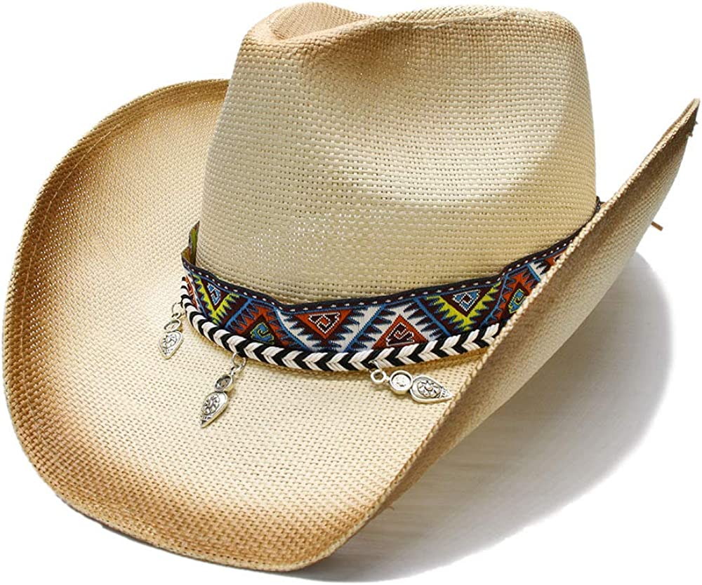 Women Men Straw Time sale Western Cowboy Hat Free shipping on posting reviews With L Handmade Bohemia Weave