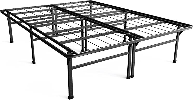 Zinus Casey 18 Inch Premium SmartBase Mattress Foundation 4 Extra Inches High For Under Bed Storage Platform Bed Frame Box Spring Replacement Strong Sturdy Quiet Noise Free Queen