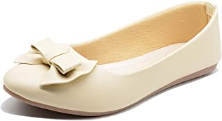 Midsole Women's Casual Stylish Embellished Bow Accent Bellies - (FT5028C)