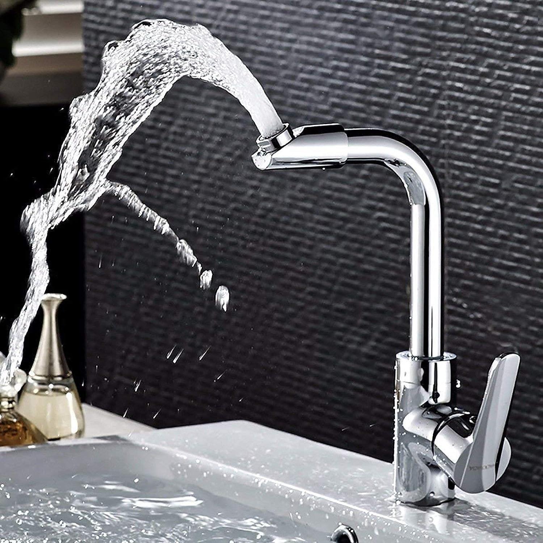 XINSU Home Waschbecken-Mischbatterie Badezimmer-Küchen-Becken-Hahn auslaufsicher Speichern Wasser Kupfer Cool Single Single Handle