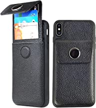 JLFCH iPhone Xs Wallet Case, iPhone Xs Card Holder Case with Drawer Type Wallet ID Credit Card Slot Cover Leather Protective for Apple iPhone X/Xs (2018) 5.8 inch - Black