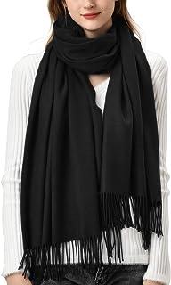 روسری زمستانی زنانه احساس ترمه پشمینا شال روسری گرم پشمی را برای زنان می پوشاند