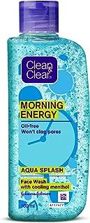 Clean & Clear Morning Energy Aqua Splash Face Wash, Blue, 100 ml