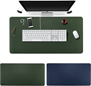 Desk Pad Mouse Pad/Mat - BUBM Large Gaming Mouse Pad Desktop Pad Protector PU Leather Laptop pad for Office and Home,Waterproof and Smooth,2 Year Warranty (Blue-Green, L)