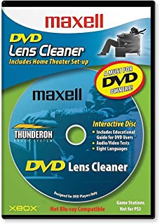 Maxell 190059 Thunderon Brush System 8 Language DVD Only Lens Cleaner, with Equipment Set Up and Enhancement Features