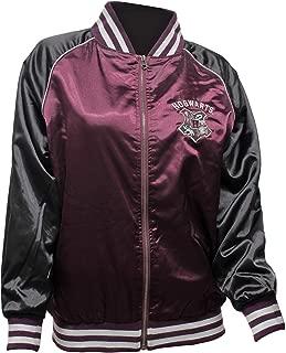 Bioworld Harry Potter Jacket Junior's Hogwarts Crest Varsity Bomber Jacket