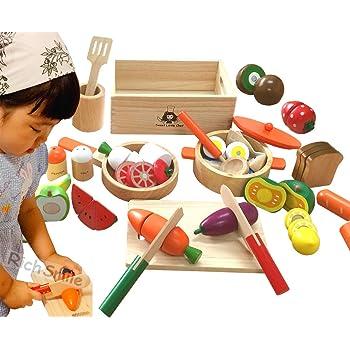 木製 ままごと クッキングセットEX 木箱入り マグネット 鍋 フライハ゜ン 食品衛生検査合格 CK-EX