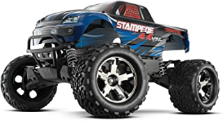 Traxxas 67086-4 Stampede 4X4 1/10 Monster Truck with TQi 2.4GHz Radio/TSM, Blue
