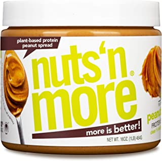 Nuts 'N More Plant Based Peanut Butter Spread, All Natural High Protein Nut Butter Healthy Snack, Omega 3's and Antioxidan...