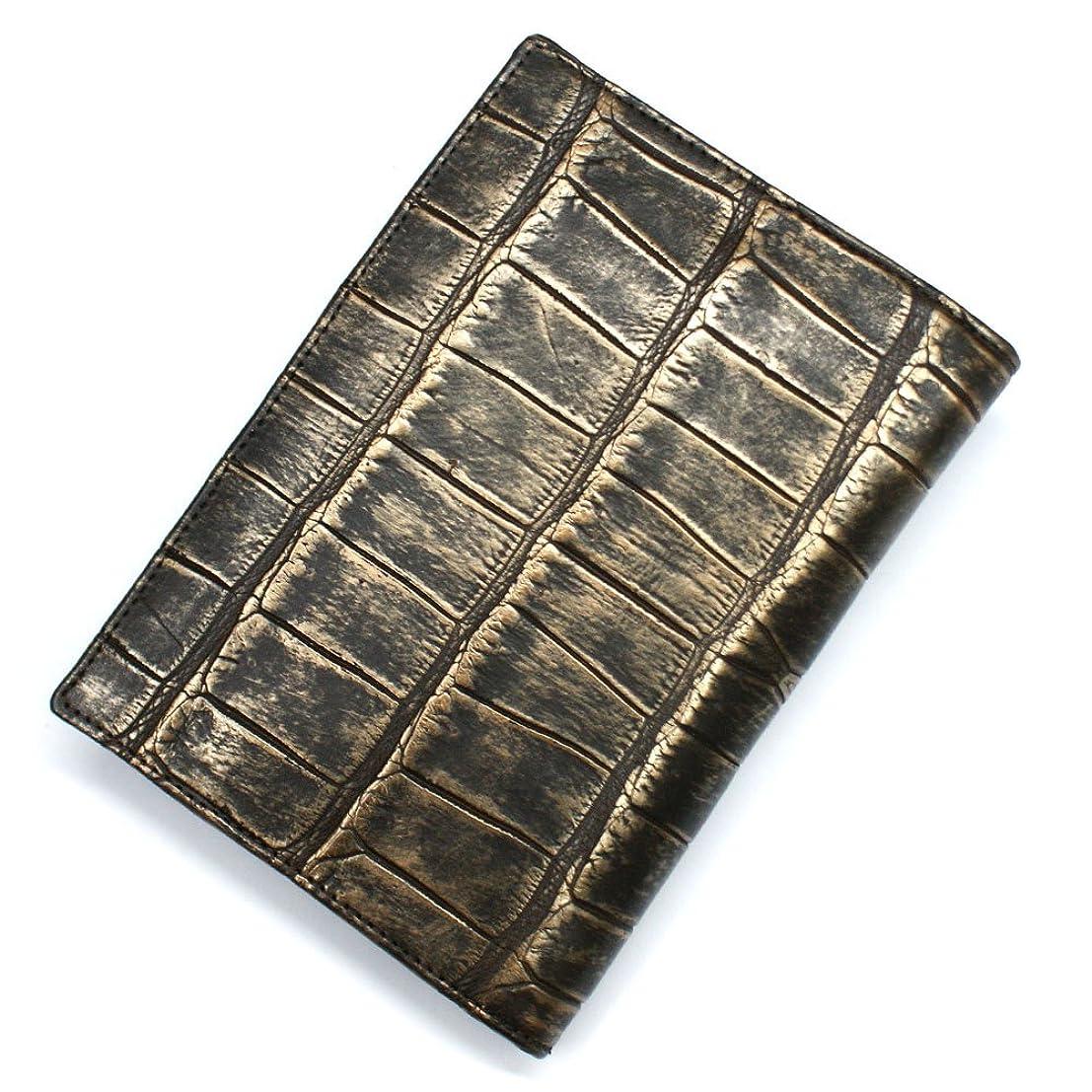 トレーダーダルセット副詞CRLG1165 クロコダイル革 ワニ革 二つ折り カード入れ カードホルダー カードケース レザー 薄型カード入れ 大容量 大量収納 パスポートサイズ L.size ラグジュアリー