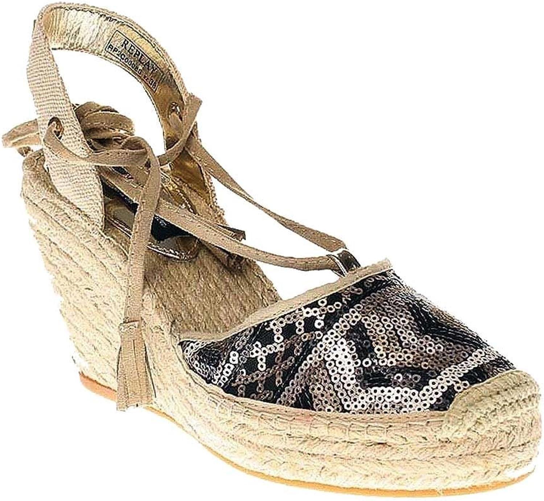 Replay CHERNA - Damen Schuhe Keilsandalette - RP2C0008S - 2470-bronze-beige