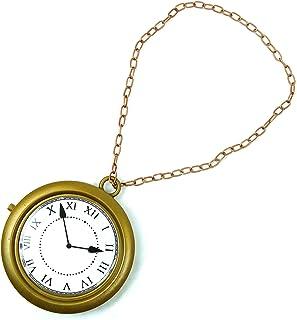 گردنبند ساعت طلای Skeleteen Jumbo - ساعت خرگوش سفید ، ساعت رپر هیپ هاپ - 1 قطعه