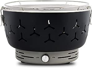 WOLTU CPZ8117sz Barbecue a Carbone Griglia da Tavolo con Ventilatore Senza Fumo BBQ in Acciaio Inox Nero