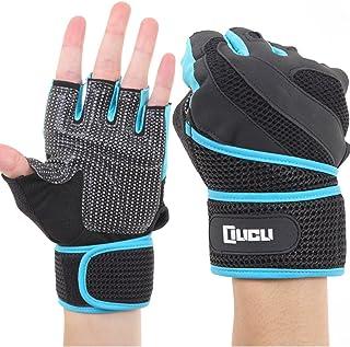 LICLI トレーニンググローブ 筋トレ メンズ レディース ジム ダンベル ウェイトリフティング グローブ 「 マメ予防 滑り止め メッシュ加工 」「 手首保護 リストラップ 一体型 」「 M L XL サイズ 」 4カラー