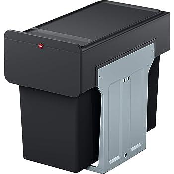 HAILO Einbau-Mülleimer: Mülltrennung für Küchen-Unterschrank   Duo-Trennsystem 8x8 Liter mit Vollauszug  Montage in wenigen Sekunden   EcoLine
