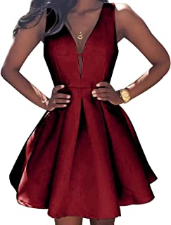 Women's V-Neck Sexy Mini Homecoming Dresses Short Party Gowns