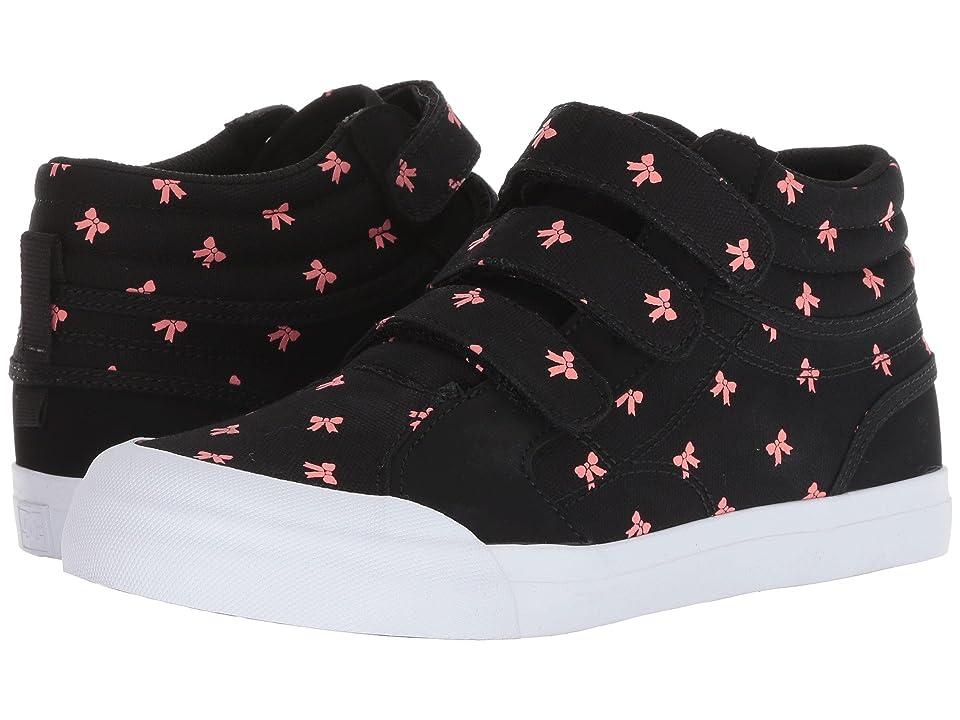 DC Kids Evan Hi V SP (Little Kid/Big Kid) (Black/Pink) Girls Shoes