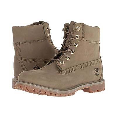 Timberland 6 Premium Boot (Light Green Nubuck 2) Women