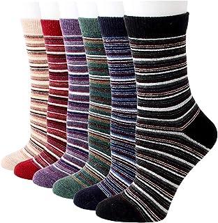 RedMaple, Calcetines de invierno de cachemira de lana para mujer, cálidos, informales, novedosos estampados