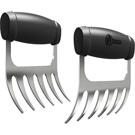 Cave Tools Metal Meat Claws for Shredding Pulled Pork, Chicken, Turkey, and Beef- Handling & Carving Food - Barbecue Grill Accessories for Smoker, or Slow Cooker