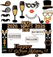 New Years Photo Booth Props 2020 New Years Eve Photo Props New Year's Eve Party Kit Happy New Year Photo Booth Props for New Years Party Selfie Supplies DIY New YearsDecoration