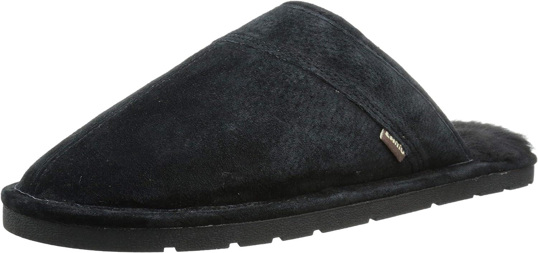 Lamo Men's Recommendation Scuff Slipper Black Clearance SALE! Limited time! Suede - Shoe