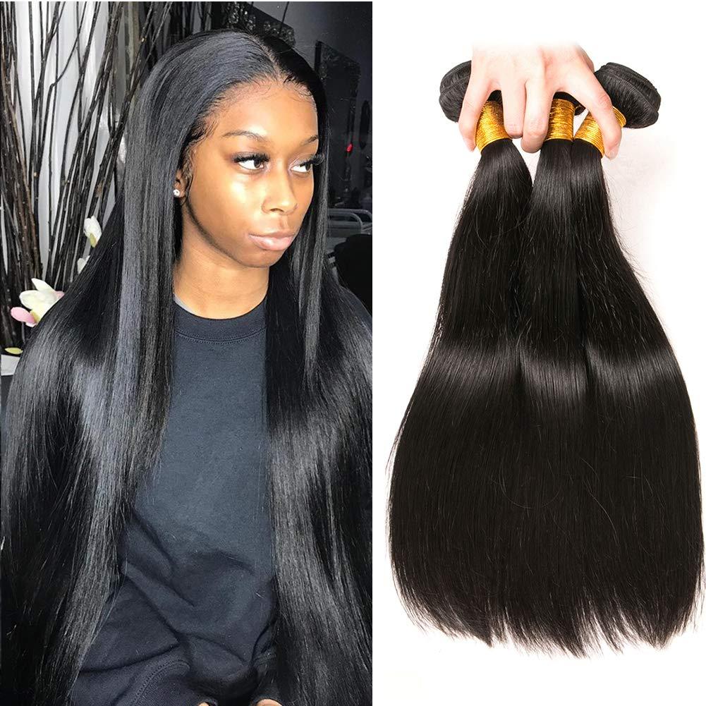 Cheap Straight Hair Same day shipping Bundles 1b Bu Virgin Milwaukee Mall Human