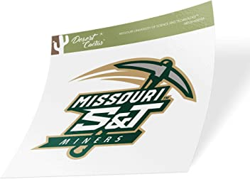 Sticker - 00080a Missouri University of Science and Technology MST Miners NCAA Vinyl Decal Laptop Water Bottle Car Scrapbook