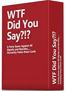 WTF Did You Say A Party Game Against All Dignity and Morality Full Game, XL Set of 594 Cards