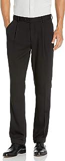 بنطال Louis Raphael Men's Gabardine Solid Pleated Dress Pant
