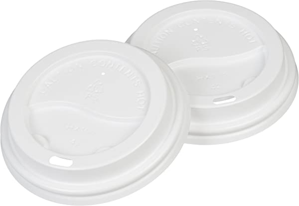 AmazonBasics Cup Lid For 12 Oz 20 Oz Paper Cups 500 Count
