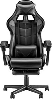 Soontrans Ergonomic Office Chair,Racing Style Gaming Chair,Video Gaming Chair with Retractable Footrest and Adjustable Hea...