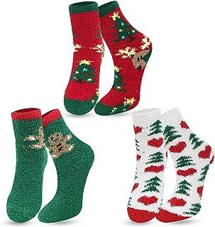 NEOLA, Calcetines mullidos de las mujeres de coral de lana calcetines de pantuflas calcetines de cama calcetines de invierno suaves de felpa caliente lindo multipack regalos para las mujeres